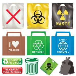 waste and recycle symbols