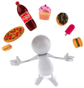 juggle junk food