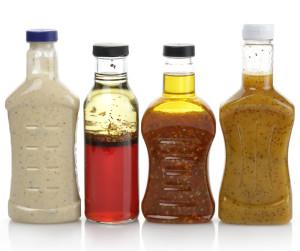Assortment Of Salad Dressing Bottles